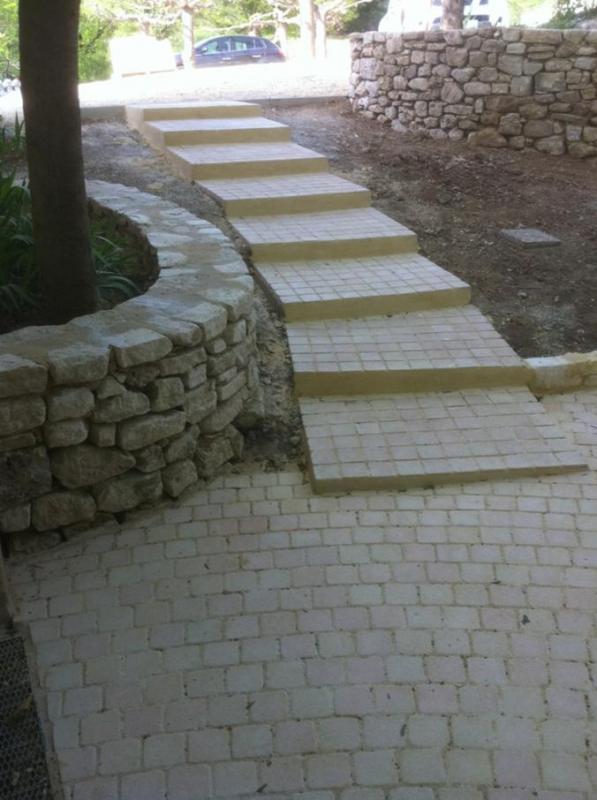 Complet Création d'une cour d'entrée d'une maison en pierre ZX96